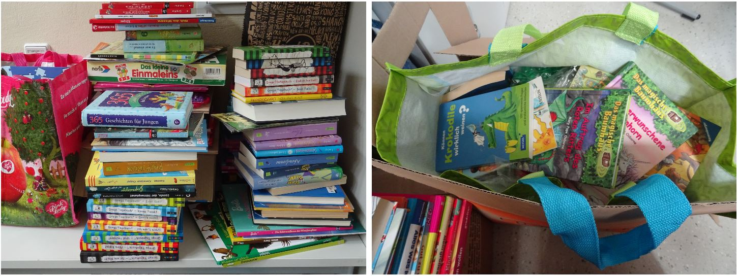 "Another group organized a book donation for the ""Johanna"" students."